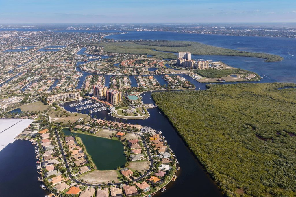 Cape Coral Florida - Cape Coral Aerial View FL, Best Snowbirds Destination