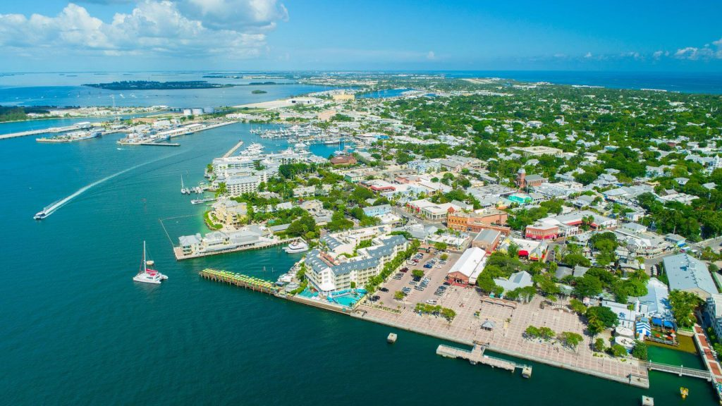 Key West, Florida - Key West Beach and Aerial View, FL